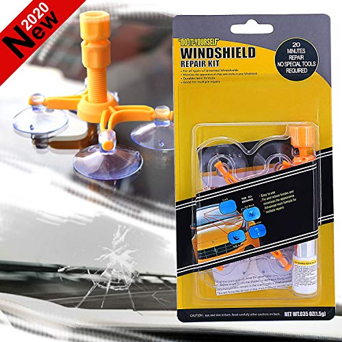 Car Windshield Repair Kit, DIY Windshield Chip Repair Tool Set, Quick Fix Auto Glass For Chips & Cracks & Bulll's-Eyes & Stars & Window Repair