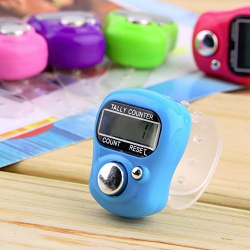 2Pcs Top Quality Mini Stitch Marker And Row Finger Counter LCD Electronic Digital Tally Counter For Sewing Knitting weave Tool ()