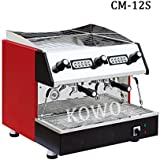 professional commercial semi automatic electric double group 4 cup espresso cappuccino coffee maker machine for cafe