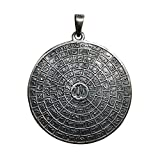 Unique Ster. Silver Cast Brush Finish Antiqued Large 99 Names of Allah Pendant - Asma ul-Husna Islamic Jewelry