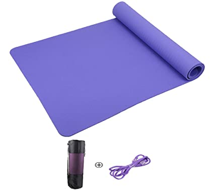 Amazon.com : Happy Time Yoga Mat Tasteless High Rebound TPE ...