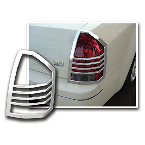 Upgrade Your Auto Premium FX Chrome Tail Light Bezels for 2005-2007 Chrysler 300/300C ()