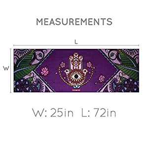 """Peace Yoga Extra Thick NBR Exercise Mat1/2"""" - Choose Your Design"""