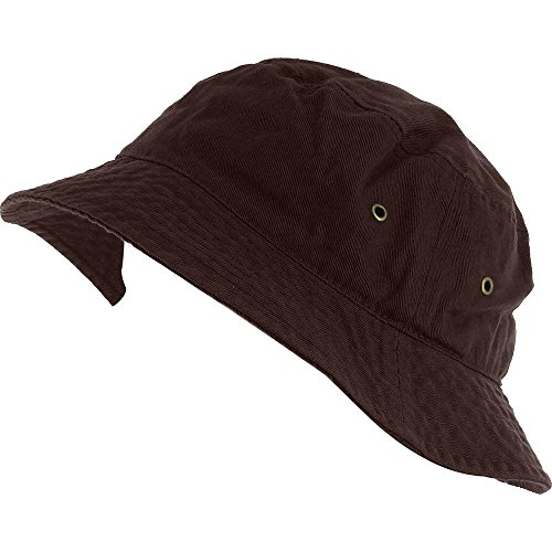 Easy-W Brown 100% Cotton Hat Cap Bucket Boonie Unisex by Easy-W
