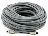Monoprice 103448 Premium S/PDIF (Toslink) Digital Optical Audio Cable - Silver - 75ft | Heavy Duty Mesh Jacket, Metal Connector Heads, For Play Station, Xbox one, Home theater & More