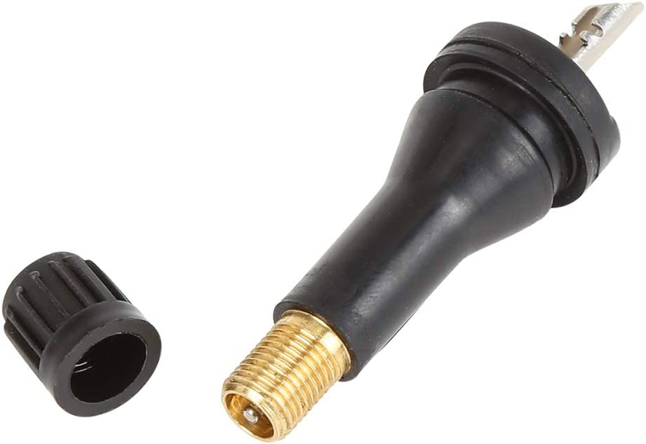 X AUTOHAUX Pneumatico Pressione Sensore Gomma Valvola Stelo TPMS Valvola Stelo Nero per Auto