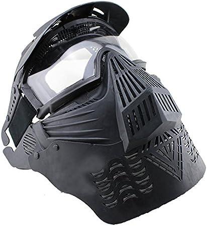 Airsoft Pro máscara transparente lente de cristal 270Grado visibilidad máscara de protección Militar protección Paintball Halloween disfraz htuk®