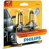 Philips H7 Standard Halogen Replacement Headlight Bulb, 2 Pack