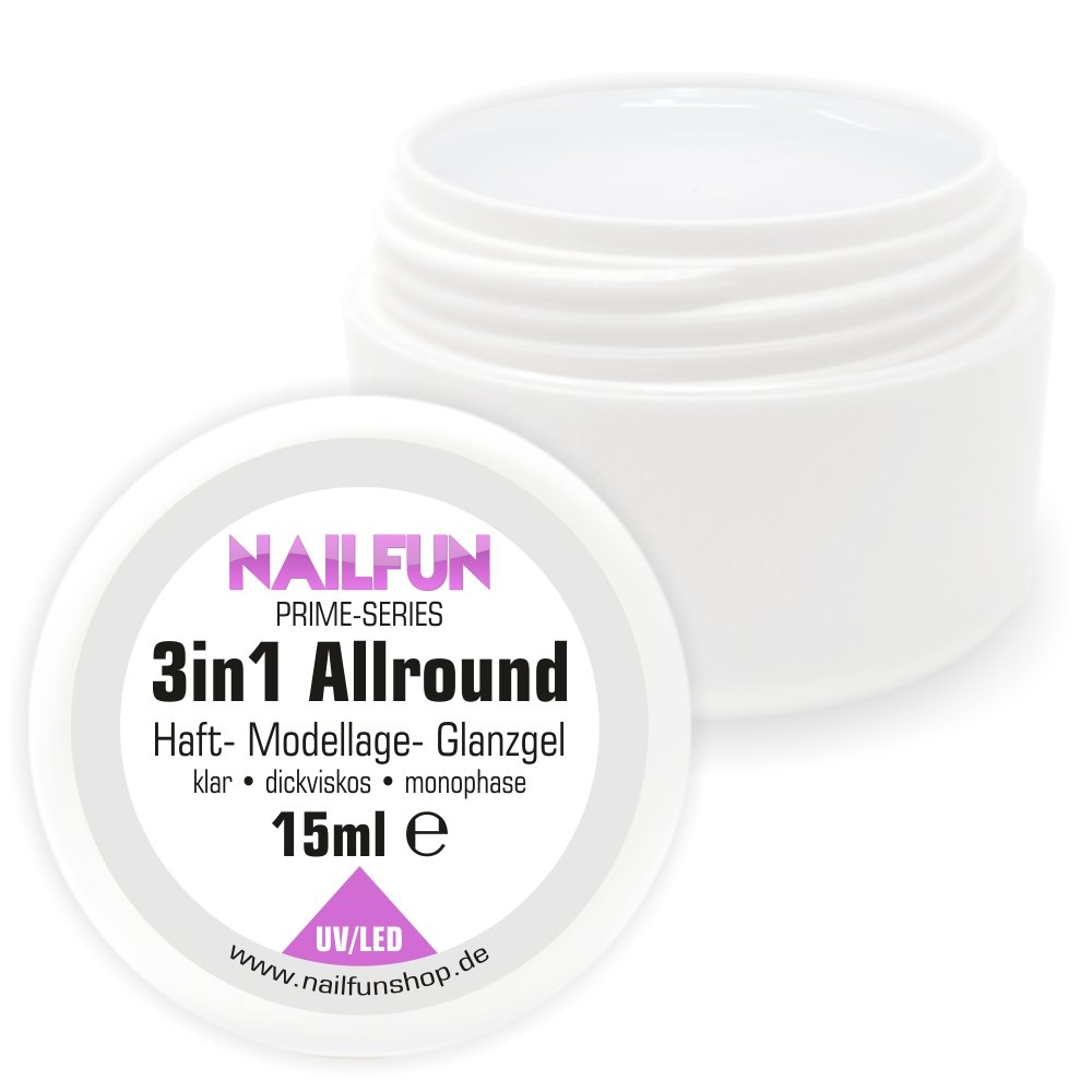 NAILFUN Prime 3in1 Allround UV Gel Transparent 15 ml NAILFUN ®