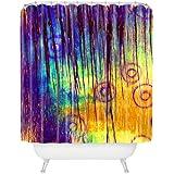 "Deny Designs Sophia Buddenhagen Blue Crush Shower Curtain, 69"" x 72"""