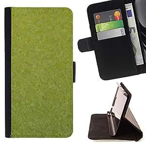 For Samsung Galaxy S4 Mini i9190 (NOT S4) Case , Textura verde- la tarjeta de Crédito Slots PU Funda de cuero Monedero caso cubierta de piel