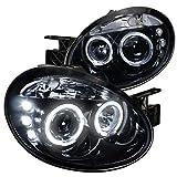 2005 dodge neon srt4 - Spec-D Tuning LHP-NEO03G-TM Dodge Neon Srt4 Dual Halo Led Glossy Black Projector Headlights