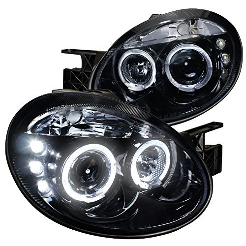 Spec-D Tuning LHP-NEO03G-TM Dodge Neon Srt4 Dual Halo Led Glossy Black Projector - Dodge Halo Neon Headlights