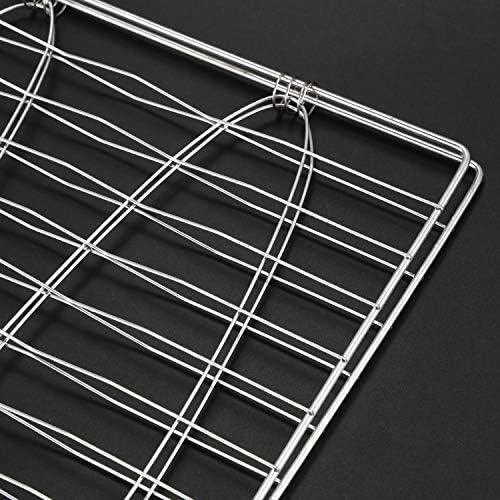BMYUK Grille Acier Inoxydable Support de 2 Poisson pour Barbecue