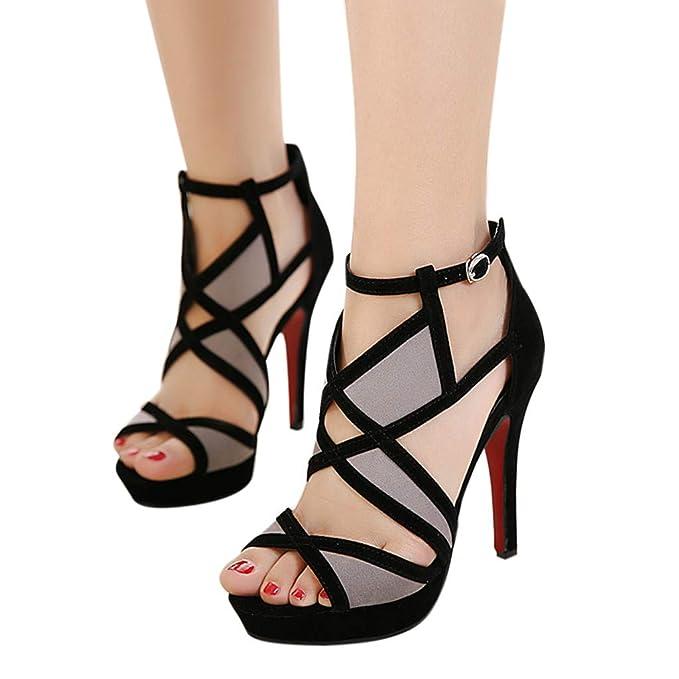 570c0563260 Sandalias de Tacon Alto de Mujer Zapatos