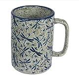 Japanese 5'' Ceramic Tea Sushi Cup Mug, Marblelee Fortune Dragonfly Design