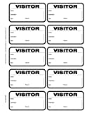 TSO 500 Badge Visitor Sign In Security Book Confidential Register with 3'' X 2'' Peel Off Destination Badges - Spiral Bound with 500 Badges @ 14 cents each (Black Non-Expiring)