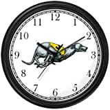 Greyhound Dog Wall Clock by WatchBuddy Timepieces (Hunter Green Frame)