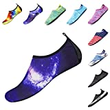 ELETOP Water Shoes for Men and Women for Hiking Surfing Water Socks Black W:7.5-8.5/M:6-7