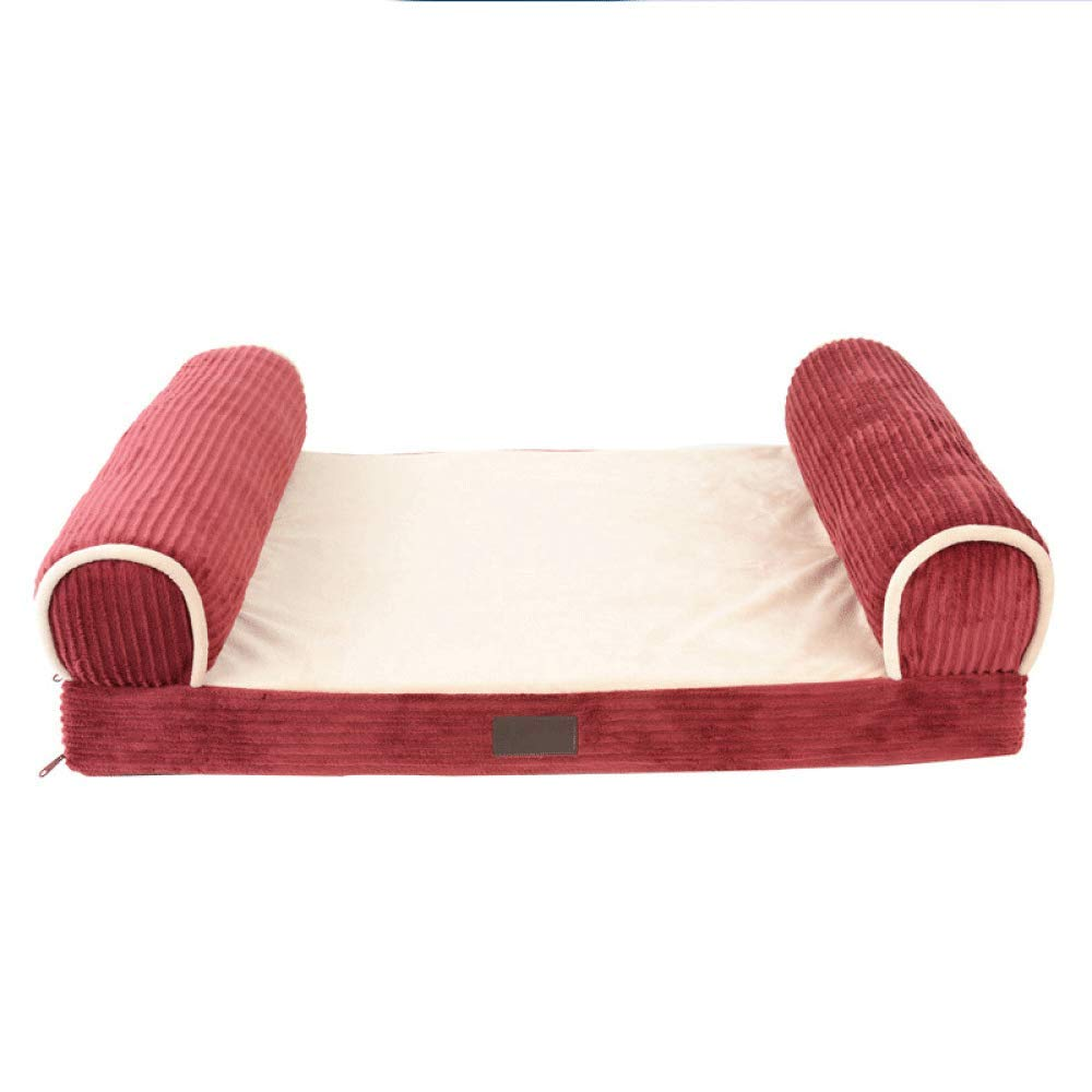 1128227cm FZKJJXJL Pet Tent Bed For Dogs Waterproof Premium Pet Puppy Cat Mat For Sofa Bed,112  82  27cm
