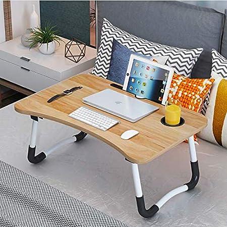 48 Madera Neetto R/églable Plateau de Lit Bureau Portable Table Ordinateur pour Lit Plateau Petit Dejeuner 70