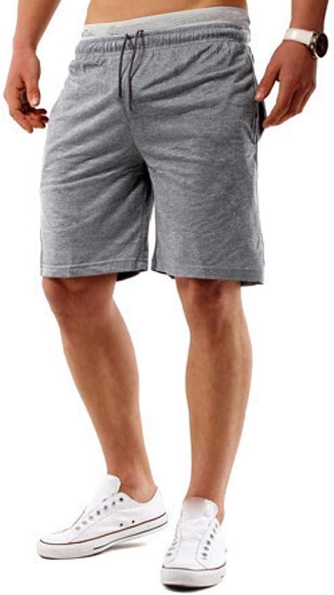 Sannysis Pantalones Cortos para Hombre Pantalones Cortos Casuales ...