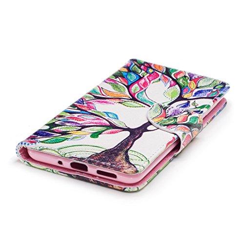 en Hozor aérosol carte protection Nokia tree avec Colorful avec pour en 8 étui magnétique de Flip peint cuir support fermeture PU conception portefeuille cas fente d'impression BUqXqYrw