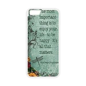 "Custom Colorful Case for Iphone6 Plus 5.5"", Audrey Hepburn Quotes Cover Case - HL-539034"