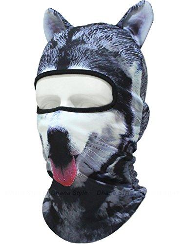 耳付き 動物柄 フェイスマスク 3D アニマル マスク 速乾 フルフェイス マスク バラクラバ 目出し帽/サバイバルゲーム・自転車・バイク・アウトドア・コスプレ (犬)