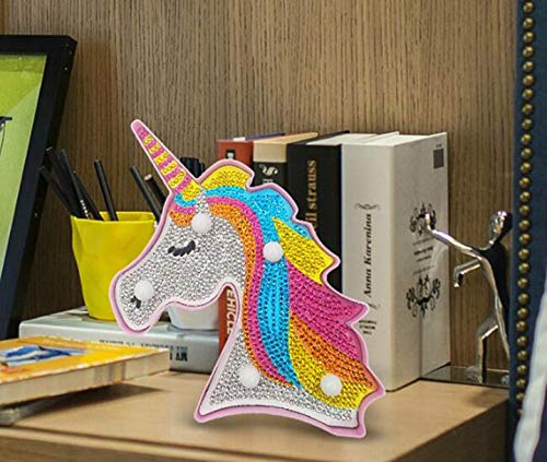 TROYSINC dise/ño de Unicornio Luz LED Decorativa para Pintar Dormitorio o decoraci/ón Nocturna para ni/ños