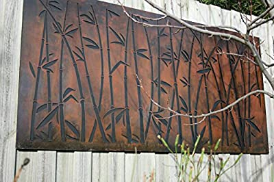 "Natural Screens by Be Metal Be ""Lucky Bamboo"" Laser Cut Decorative Steel Panel"