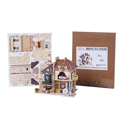 TORCH-CN 3D Architecture Houses Puzzles For Kids Handmade Creative Assemble (British Bridal Tea House) (Torch Tea)