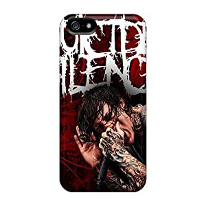 Apple Iphone 5/5s WgC15120DujU Allow Personal Design Colorful Suicide Silence Skin Scratch Resistant Hard Phone Case -RobAmarook