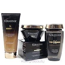 Kérastase Chronologiste Revitalizing Shampoo, Care Conditioner And Balm Treatment Trio