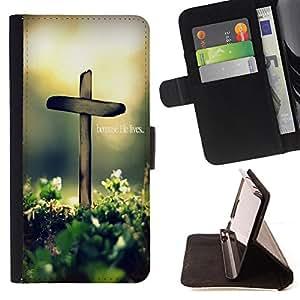 - OMG God Cross Jesus - - Prima caja de la PU billetera de cuero con ranuras para tarjetas, efectivo Compartimiento desmontabl FOR Apple Iphone 5C Lady Case