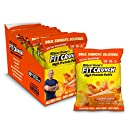FITCRUNCH Protein Puffs | Designed by Robert Irvine | Keto-Friendly High Protein Puff Snacks | 2g of Sugar, NON-GMO, Gluten Free & 20g of Protein | 240g (8 Bags) (Cheddar Cheese)