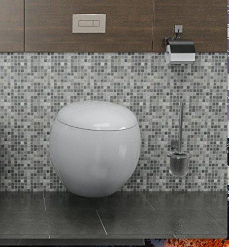 Import For Me WC Sospeso Wind in ceramica con seduta e copri vaso 39x58x36cm