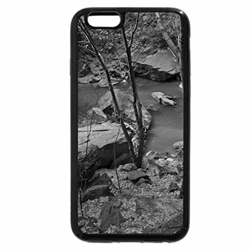 iPhone 6S Case, iPhone 6 Case (Black & White) - Little Flowing River