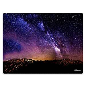 HommomH Doormat 1.3 ft x 2 ft = 2.6 square ft Door Mat Rug for Floor Shoe Scraper Beautiful Galaxy Mountains