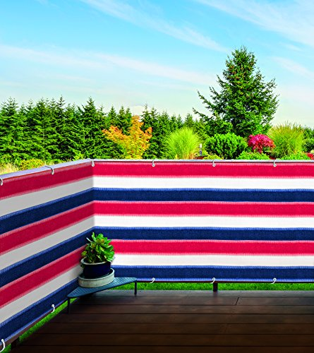 Deck and Fence Privacy Screen - Enjoy Privacy While Allowing Fresh Air To Flow In. Color: Red, White, and Blue by Miles Kimball