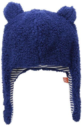 Magnificent Baby Unisex Fleece Winter Hat with Magnet Close Chin Strap,Blueberry,6-12 Months