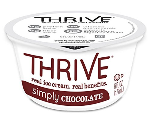 Thrive Frozen Nutrition, Simply Chocolate Ice Cream, 6 oz Cups (24 count)