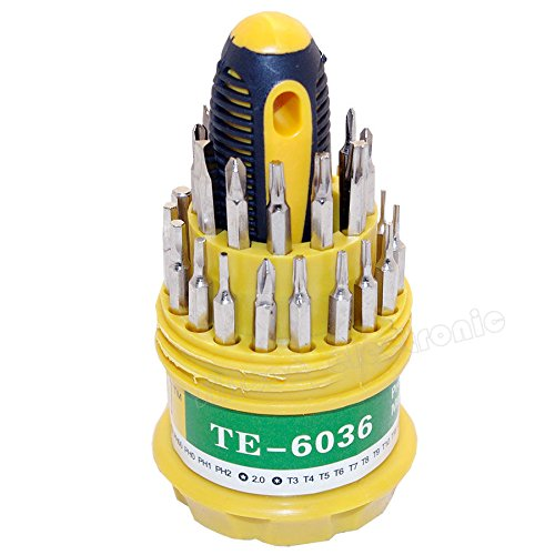 31 in 1 Screwdriver Set PDA PSP NDS MP3 Player Repair Kit Tools Straight Heads