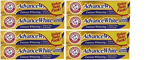 Arm & Hammer Advance White Extreme Whitening Baking Soda and Peroxide Toothpaste, 6 Ounce, Twin Pack, 8 count