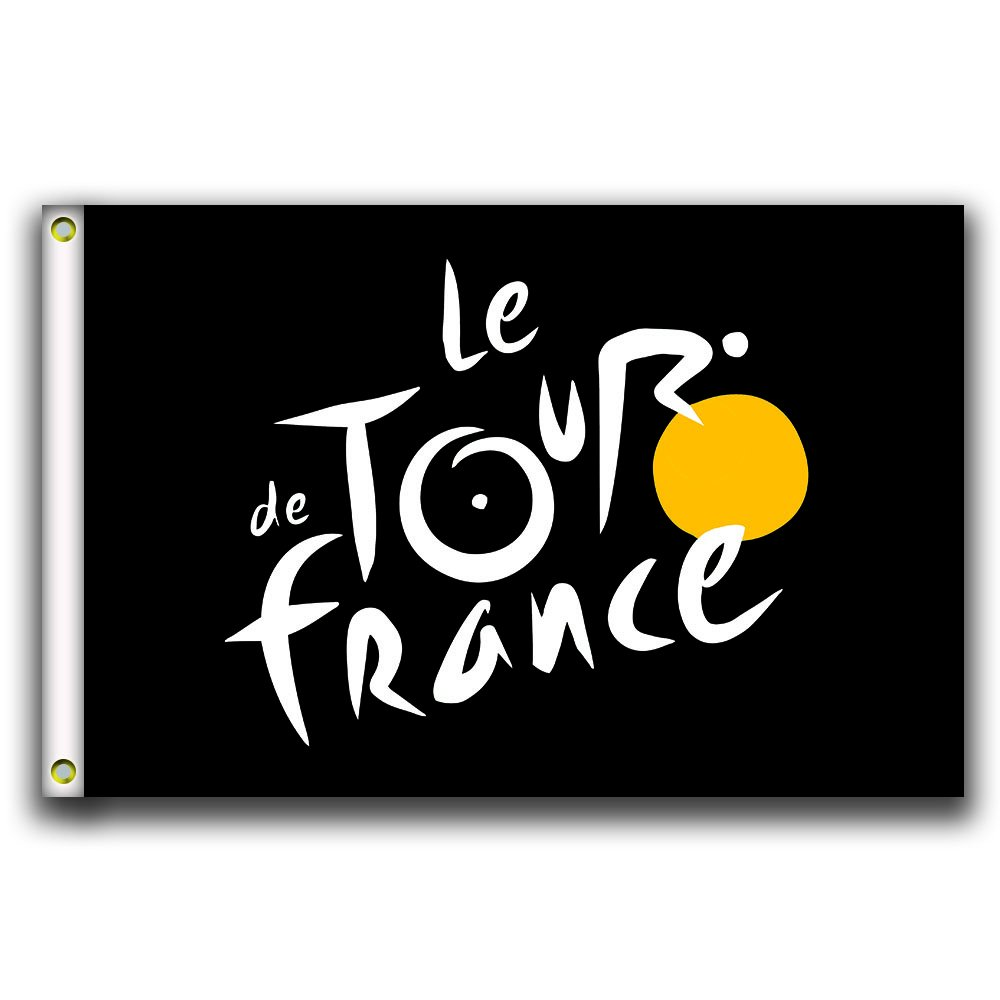 Home King Tour de France Flag Banner 3X5FT 100% Polyester,Canvas Head with Metal Grommet
