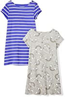 Amazon Brand - Spotted Zebra Girls Knit Short-Sleeve T-Shirt Dresses