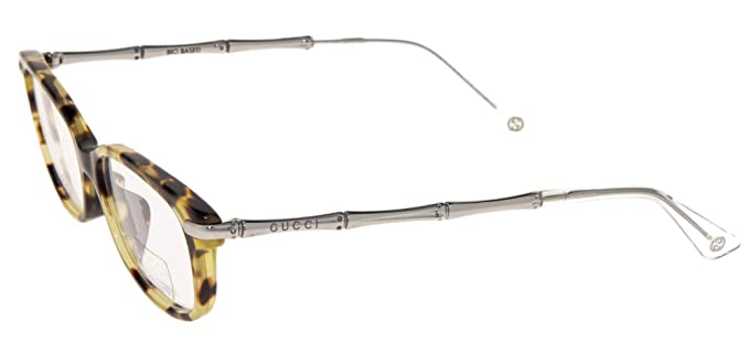 d6558059e0 Image Unavailable. Image not available for. Color  GUCCI 3801 Silver Metal  Bamboo Havana Bio Based RX Eyeglasses 52mm