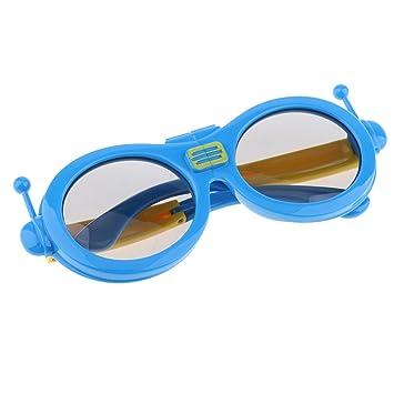 MagiDeal Tecnología Reald Gafas Polarizadas 3D para TV/Movies / Cinema/HD - Azul