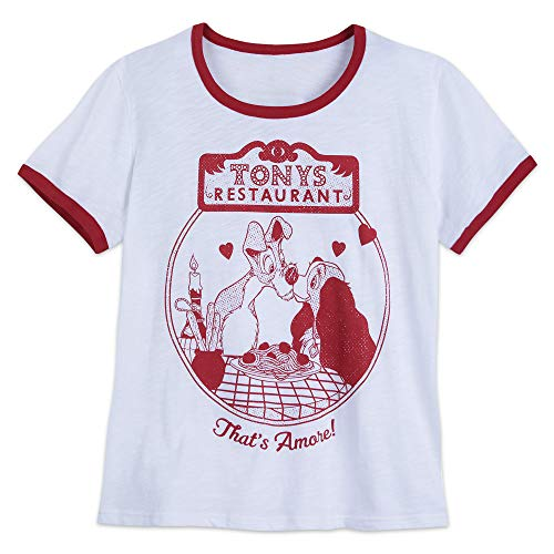 Disney Lady and The Tramp Ringer T-Shirt for Women - Extended Size
