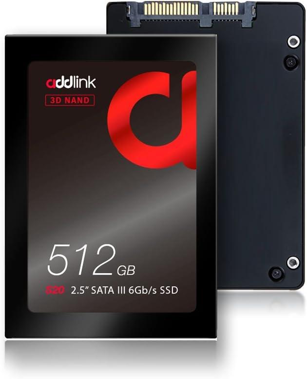 "ADlink S20 512GB SSD 3D ناند 2.5"" SATA III 6GBb/s 7mm قرص صلب داخلي قراءة 550MB/s Write 500MB/s"